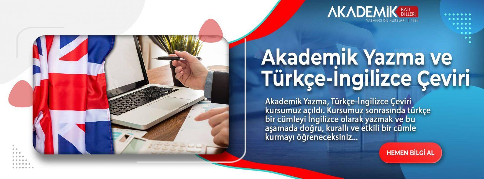 Akademik Yazma ve İngilizce Türkçe Çeviri